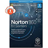 Norton 360 for Gamers 2021| Antivirus per 3 Dispositivi | Licenza di 1 anno | PC o Mac | Codice di attivazione via email