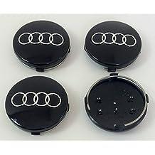 Set di quattro ruote in lega Centro Caps Nero Covers Badge 60mm 4B0601170adatto per Audi A3, A4, A5, A6, A7, A8, S4S5S6S8, RS4Q3Q5Q7TT, A4L, A6L S Linea Quattro e altri modelli 4b0601170 - 2007 4 Modello