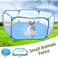 Lucky-all star Small Animals Cage Tent - Breathable Transparent Pet Playpen Indoor Exercise Open Portable Folding Yard Fence, Fit for Guinea Pig Rabbits Bunny Hamster Chinchillas Hedgehogs