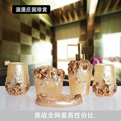 Continental bagno di resina 5 Pezzo bagno vanity con Bluetooth
