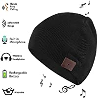 Color You Bluetooth Beanie Washable Winter Knitted Wireless Music Headset Hat with Mic Stereo Speaker for Running, Skiing,Skating, for Men Women