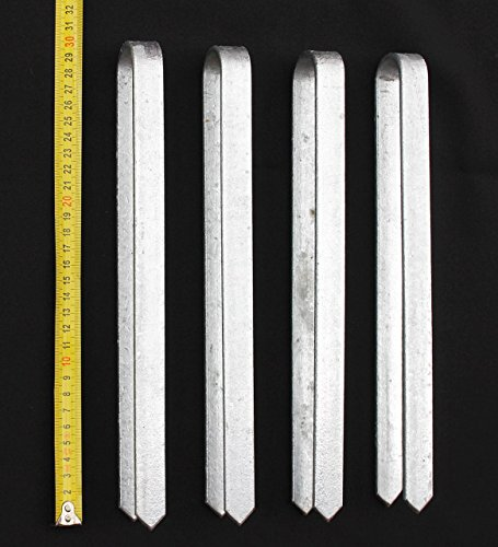 DanDiBo 4 Stück Bodenanker für Rosenbogen 30 cm verzinkt Erdspieß Bodenspieß Befestigungsanker Erdanker