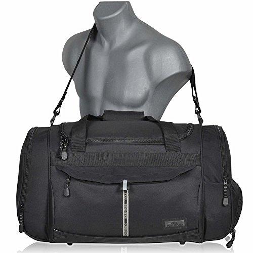 Sporttasche ADVENTURE Fitness Tasche, Sport Gym Tasche Reisetasche, 40 Liter Black Aztec