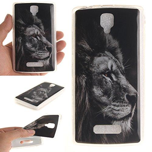 Cozy Hut Lederhülle/Ledertasche / Hülle/Case / Cover/Etui / Tasche Bunte Muster Weich TPU Handy Hülle für Lenovo A2010,Ultra Slim Dünn Silikon TPU Transparent für Lenovo A2010 Hülle, Premiu