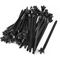 163mm x 5mm Beige Nylon Car Dome Push Mount Electric Cable Tie Cord 10 Pcs