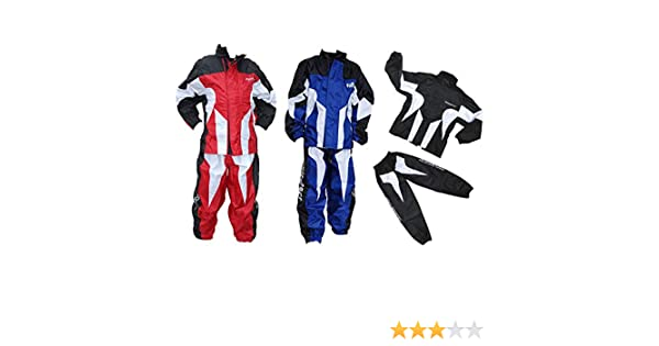 Red 11-13 Yrs Wulfsport Kids Race MX Wet Weather Over Motocross Suit Children Motorbike Top /& Pants Set