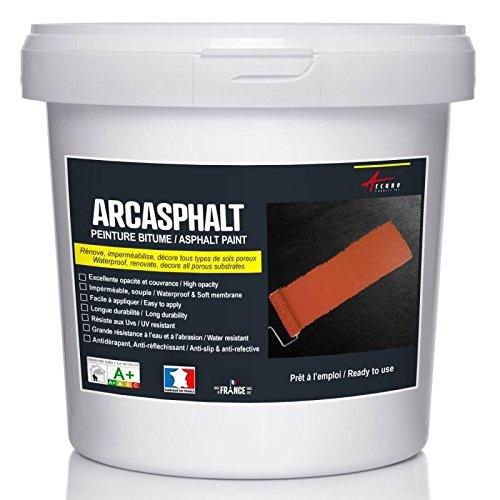 Arcasphalt Asphaltfarbe, Bodenfarbe für Bitumen, Asphalt, Teer, Straßendecke, grau