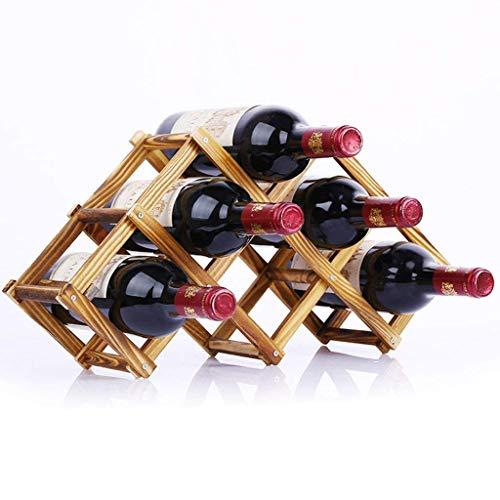 Restaurant Wein-lagerung (Weinregale Kreative Feste Kiefer Holz Rotwein Ausstellungsstand Haushalt Wohnzimmer Faltbare Lagerung Trauben Wein Regale Restaurant Bar Weinschrank Größe Optional (Farbe : #2, Größe : 47 * 30cm))