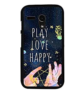 Fuson Premium 2D Back Case Cover Happy happy With Multi Background Degined For Motoroal Moto G Turbo Edition