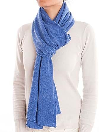 Dalle Piane Cashmere - Sciarpa 100% cashmere - Uomo/Donna, Colore: Azzurro, Taglia unica