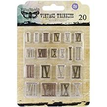 Prima Marketing Sunrise Sunset Mechanicals metal trinkets-mini Vintage números romanos (a)