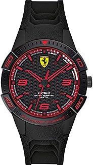 Ferrari Unisex-Adult Quartz Watch, Analog Display and Silicone Strap 840032