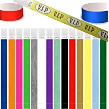 UK Wristbands Ltd - Conjunto de 100 pulseras de papel para seguridad en eventos, rojo