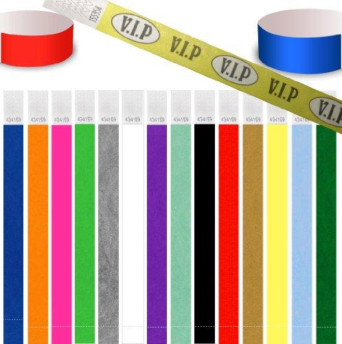 Preisvergleich Produktbild UK Wristbands 100 Premium Tyvek Paper Security-Armbänder für Events und Konzerte 3 / 4 Zoll / 19 mm Breite (Neon Orange)