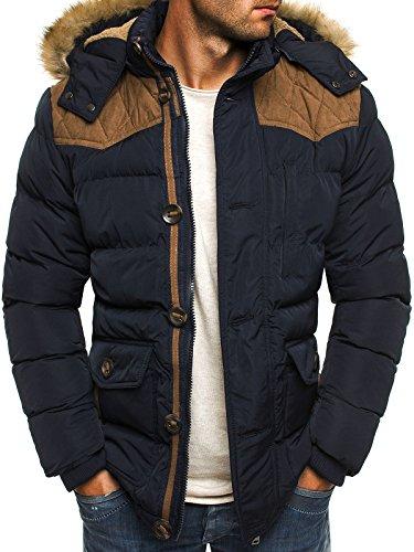 OZONEE Herren Winterjacke Wärmejacke Parka Sweatjacke Steppjacke Jacke Sportjacke J.STYLE 3079