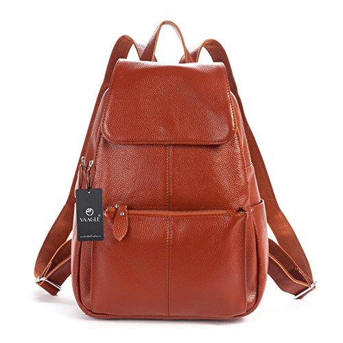 YAAGLE Neu erste Schicht aus Leder Rucksack Damen Schultasche Reisetasche echtes Leder Gepäck Schultertasche Handtasche-burgundy brown