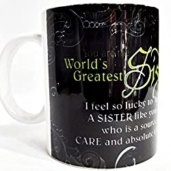 Sister gifts mug, loving sister mug, cute sister birthday gift or sis general gift, for rakhi gift for sister
