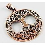 Bronze Celtic Tree Of Life Pendant For Necklace 3cm Diameter
