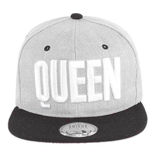 *Johnny Chicos Snapback KING & QUEEN Grau, Größe:One Size;Farbe:Queen Grey*