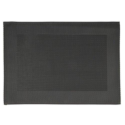 APS GL610PVC Tisch-Sets, feine Band Rahmen, schwarz (6Stück)