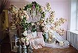 MMPTn 9x6ft Bellissimi fiori Porta ad arco per matrimonio Doccia nuziale Romantico Interno di casa Anniversario Festa in famiglia Eventi Wallpaper Studio fotografico Puntelli
