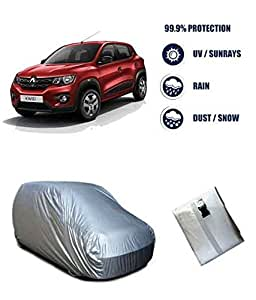 Autowheel Silver Car Body Cover For Renault Kwid (Tirpal)