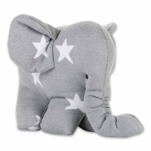 Baby's Only 915495 Elefant gestrickt, circa 25 cm, grau/weiß