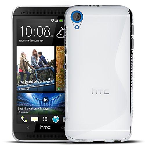 Conie Rückschale für HTC Desire 820 - Silikon Schutzhülle im S-Line Design Hülle aus TPU, Kratzfest Kantenschutz, Desire 820 Handyschale