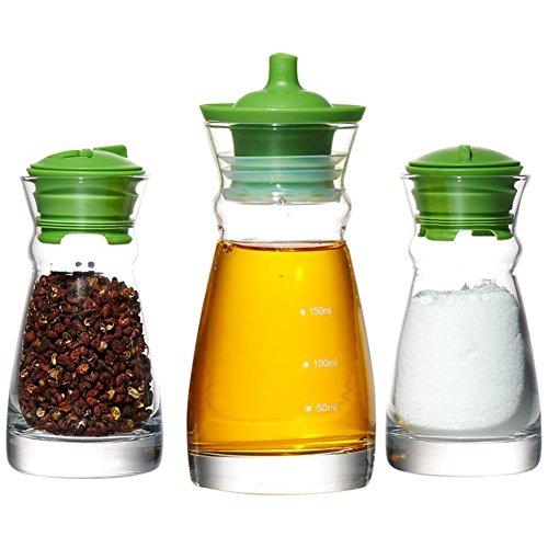 Flaschen Die menage Flaschen Spice jar Seasonning box Gewürz-kasten Küche Grüne kappen für...
