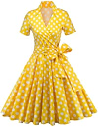 0c70a814143 Women s 50s 60s A Line Rockabilly Dress Cap Sleeve Floral Vintage Swing  Party Dress