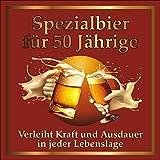 3 St. Original RAHMENLOS® Design: Selbstklebendes Bier-Flaschen-Etikett zum 50. Geburtstag.