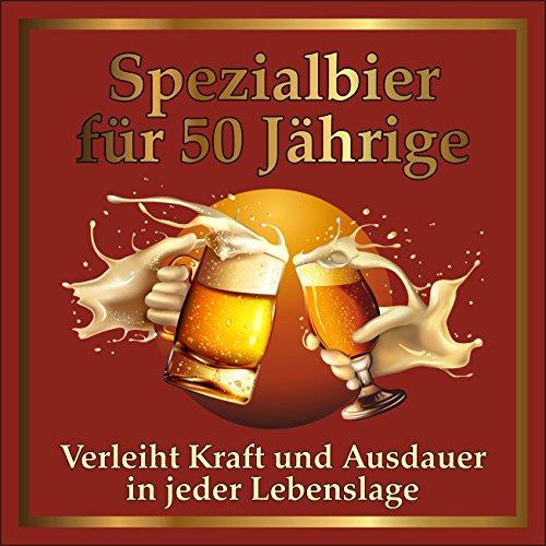 RAHMENLOS 3 St. Original Design: Selbstklebendes Bier-Flaschen-Etikett zum 50. Geburtstag.