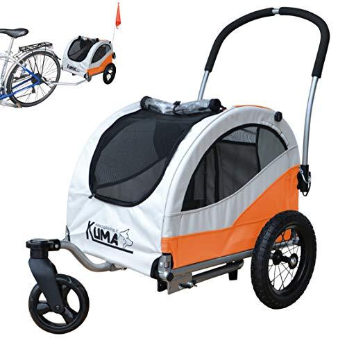 Papilioshop Kuma Hundeanhänger hundewagen fahrradanhänger für klein Hunde Buggy (Orange)