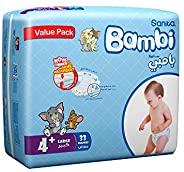 Sanita Bambi, Size 4+, Large, 8-16 kg, Value Pack, 33 Diapers