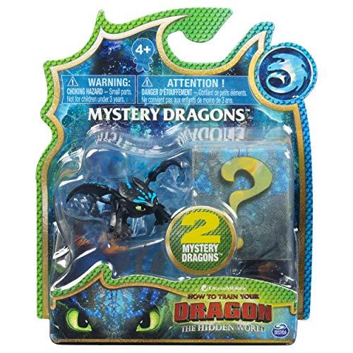 Dragons 6045092 - Movie Line Mystery Dragons, 2er-Set, Sammelfiguren, Drachenzähmen leicht gemacht 3, Die geheime Welt