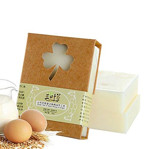 Ziege-Milch-wesentliches Öl-Seifen-Stange für Gesichtsreinigungs-reiche Blasen-milde tiefe reinigende Seife 100G (Ziegen Milch Seife)