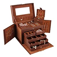 Rowling Leather Jewellery Box Travel Case and Lock ZG245