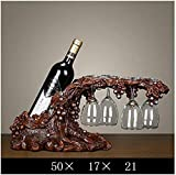 KIUJ Weinkabinett Dekorationen, Weinregal, Home Wohnzimmer Tv Kabinett Dekoration, Moderne Minimalistische Kreative Persönlichkeit Flaschen,G,Weinregal