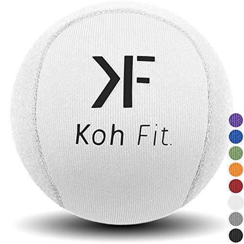 Koh Fit Stressball für Erwachsene - Stressabbau Squeeze Bälle - Bonus 18 Seiten Handtraining-Therapie E-Book, White (1 Ball) (Billig-stuffers Männer Für)