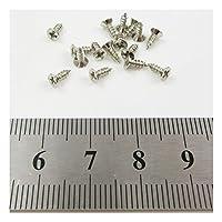 2mm x 6mm STEEL POZI SCREWS MINIATURE TINY MICRO MODEL SCREWS BUILD DOLLSHOUSE (Silver x 50 (H262))