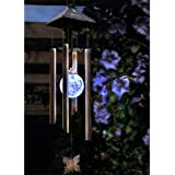 New Solar Powered Colour Changing LED Windchime Outdoor Garden Metal Wind Chime Shopmonk