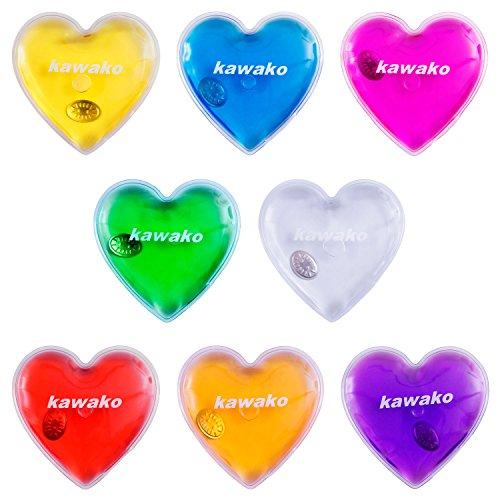 kawako Taschenwärmer 8er Set Multicolor - Herz - Handwärmer Heizpad Wärmepad Firebag