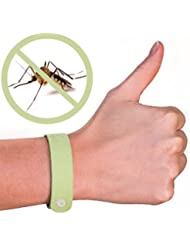 Paquete de cinco (5 unidades) de pulseras repelentes de mosquitos 100 % natural – sin DEET – Garantizada para trabajar – Disuade rápida y fácilmente los insectos durante horas – Repelente de insectos de aceite natural – Pulseras contra insectos seguras para los niños