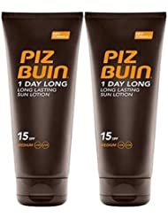 Piz Buin 1 Jour Long Duo Lotion Solaire Spf 15 X 2 - 100Ml Chaque = 200 Ml