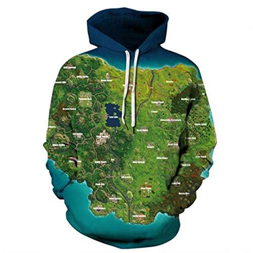 Grün Cartoon Karte Drucken Herbst Winter Hoodie Sweatshirt Männer Frauen Hip Hop Streetwear 3D Kleidung 1 S