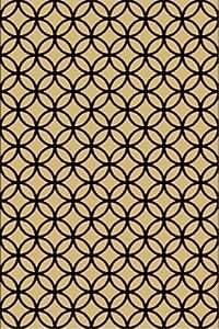 GD Home Earthbound leggero reversibile tappeto ecologico per interni ed esterni, 180x 270cm, nero/croissant