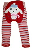 Baby and Toddler Wooly leggings by Dotty Fish girls Red Lily Lamb