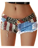 Andy's Share, Hot Damen Mini Jeans Shorts Pants, Denim Low Waist