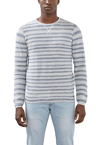 edc by Esprit 027cc2i006, Pull Homme Blanc (Off White)