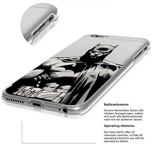 finoo | iPhone 8 Handy-Tasche Schutzhülle | ultra leichte transparente Handyhülle in harter Ausführung | kratzfeste stylische Hard Schale mit Motiv Cover Case |Logo become bat Batman closeup